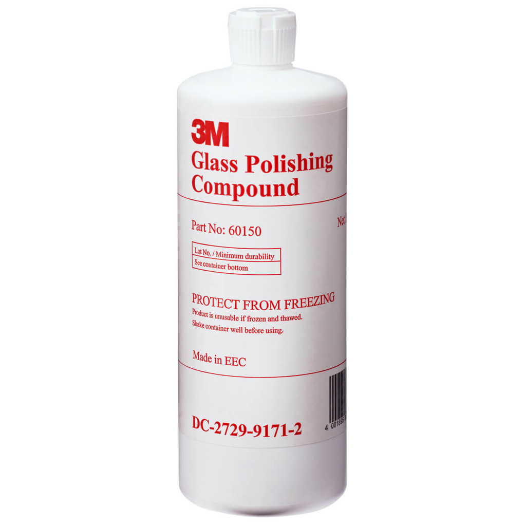how to use 3m glass polishing compound
